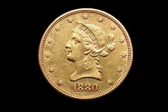 771: Liberty Head 10 Dollar Gold Coin 1880S