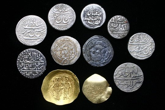924: 11 Coins Large Copper, Persian Silver & Indian