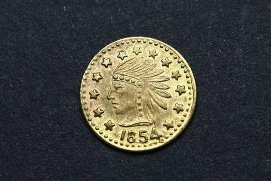 948 1 2 Dollar Gold California 1854 Coin Copy