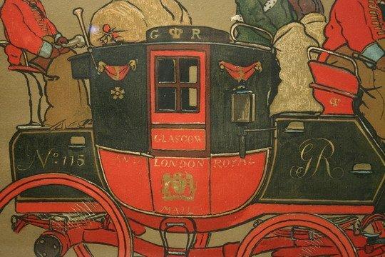 999: Stencil Print Royal Mail Coach C Laloin c1900 - 2