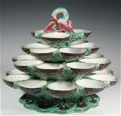 MINTON MAJOLICA FOURTIER OYSTER SERVER