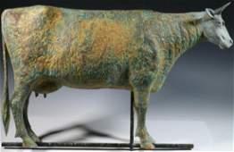 19TH C. NEW ENGLAND LARGE HARRIS COW WEATHERVANE
