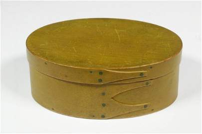 OVAL SHAKER PANTRY BOX IN MUSTARD PAINT