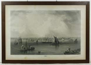 MONUMENTAL ENGRAVING PROOF OF BOSTON