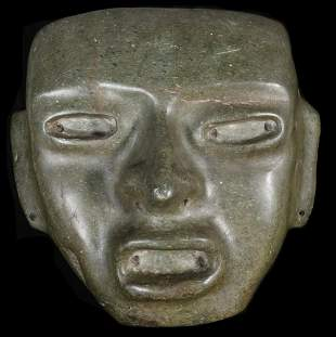 PRE-COLUMBIAN CENTRAL AMERICAN STONE OFFERTORY CARVING