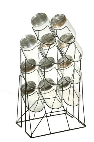 RARE ELEVEN - JAR CANDY STORE DISPLAY WITH HEAVY WIRE