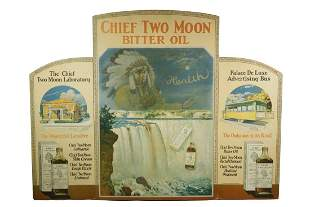 CHIEF TWO MOON BITTER OIL STORE DISPLAY