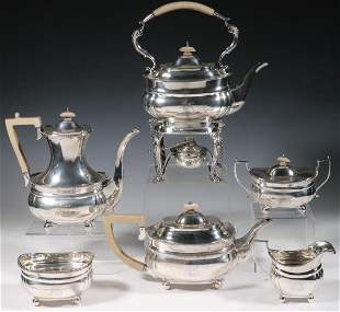 (6 PC) ENGLISH SILVER TEA & COFFEE SERVICE