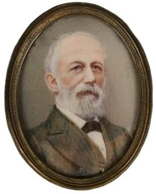 PORTRAIT MINIATURE OF ROBERT E. LEE, POST BELLUM