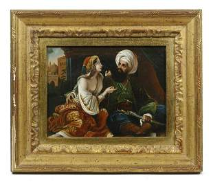 """SMALL 19TH C. PAINTING """"THE SULTAN'S FAVORITE"""""""