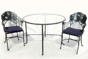 (5) PIECE WROUGHT IRON DINING SET