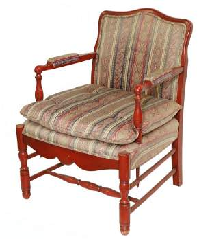FRENCH STYLE OPEN ARM CHAIR