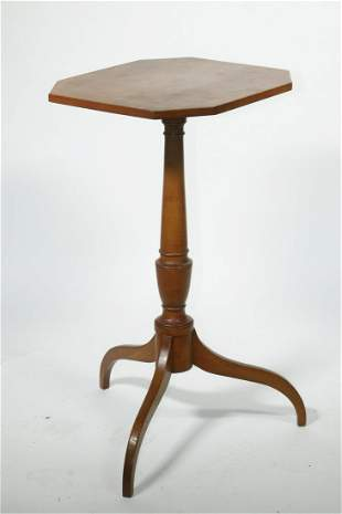 18TH C. COUNTRY HEPPLEWHITE CANDLESTAND