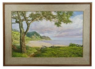REALIST LANDSCAPE PAINTING SIGNED 'THYBEN'