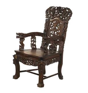 CARVED CHINESE DRAGON CHAIR