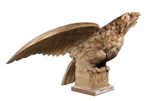 CARVED AMERICAN PILOT HOUSE EAGLE