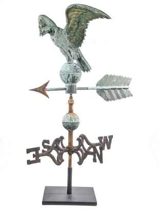 AMERICAN SPREAD WING EAGLE & ARROW WEATHERVANE