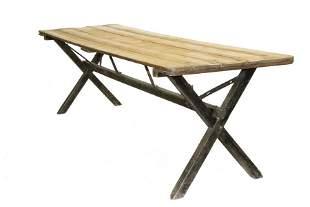 NINE FOOT SAWBUCK FARM TABLE