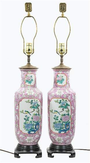 PR CHINESE VASES AS TABLE LAMPS