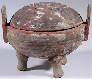CHINESE HAN DYNASTY POTTERY JAR