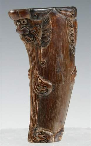 19TH C. CHINESE RHINO HORN CUP
