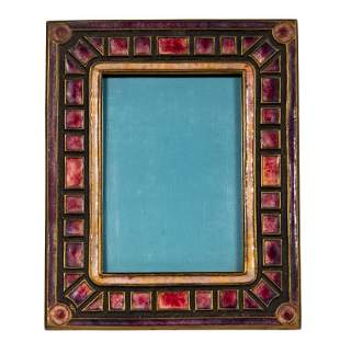 TIFFANY FURNACES ENAMELED BRONZE PICTURE FRAME