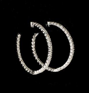 LADIES WHITE GOLD AND DIAMOND EARRINGS