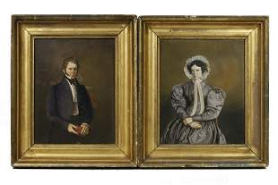 PR OF EARLY 19TH C. AMERICAN PORTRAITS ON PORCELAIN