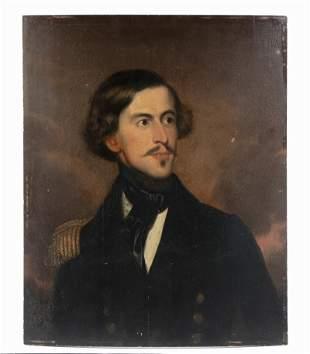 PORTRAIT OF A ROYAL NAVY OFFICER, CIRCA 1850, UNFRAMED