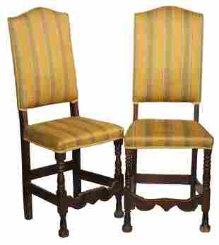 PR BAROQUE UPHOLSTERED SIDE CHAIRS
