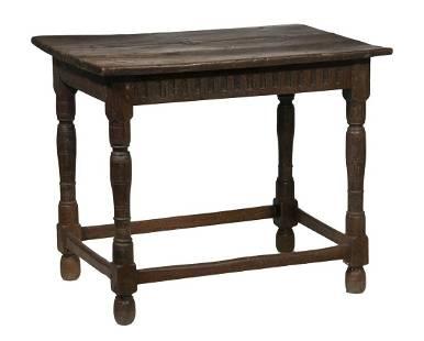 17TH C. OAK CENTER TABLE