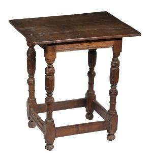 17TH C. OAK SIDE TABLE