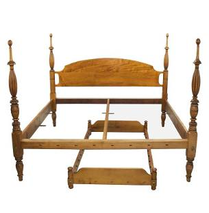 KING SIZE BED & TRUNDLE BY LEONARDS NEW ENGLAND