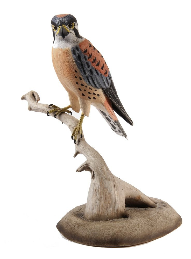 BIRD CARVING - 'Kestrel' by Wendell H. Gilley (ME,