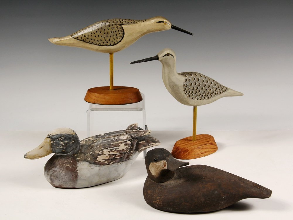 (4) LONG ISLAND DECOYS - Including: (2) Sandpipers