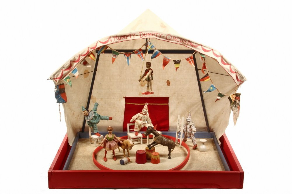"""TOY CIRCUS - """"Humpty-Dumpty Circus"""" Cotton Tent with"""
