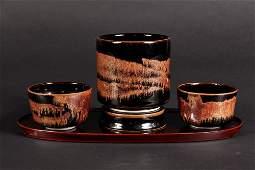(4 PC) SET BROTHER THOMAS BEZANSON POTTERY - Tea
