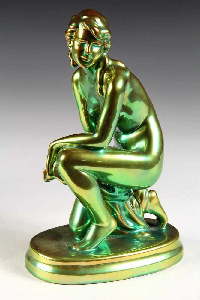 Zsolnay Eosin Nude Figurine