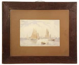 CHARLES HENRY GIFFORD; (MA, 1839-1904) - Sailing Craft,