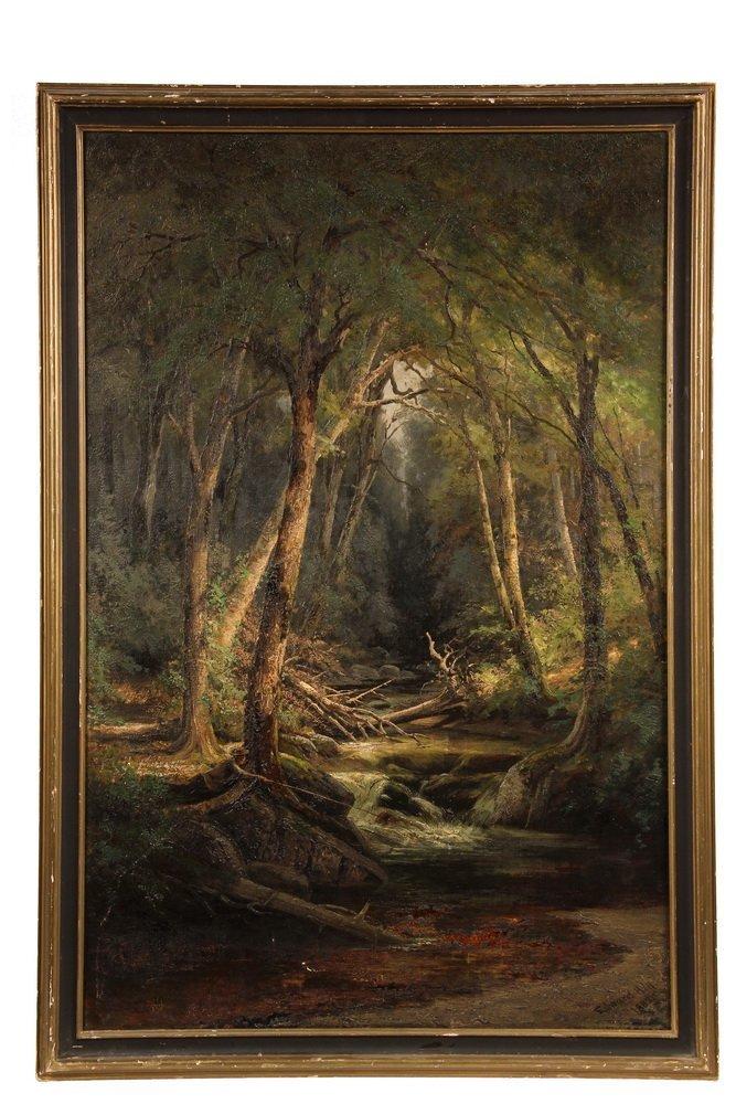 """EDWARD HILL (NH/CA/OR, 1829-1908); """"Ravine Brook, White"""