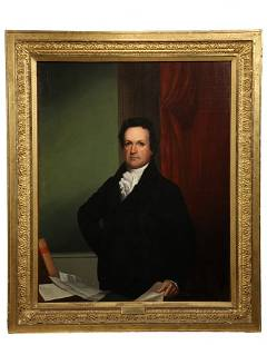 "JOHN WESLEY JARVIS (NY, 1780-1840); ""Portrait of DeWitt"