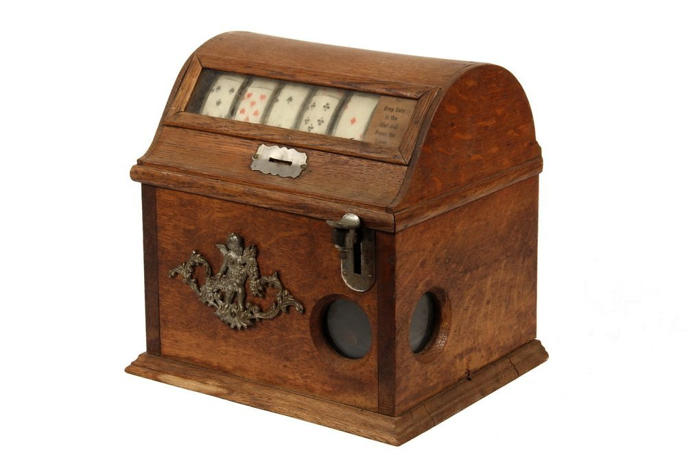 PENNY TRADE STIMULATOR - Oak Cased Coin Operated
