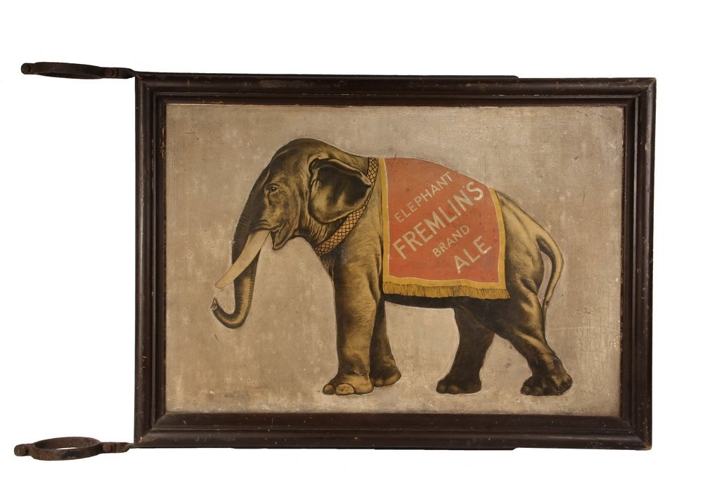 VINTAGE ENGLISH BEER SIGN - Exterior Street Post Sign