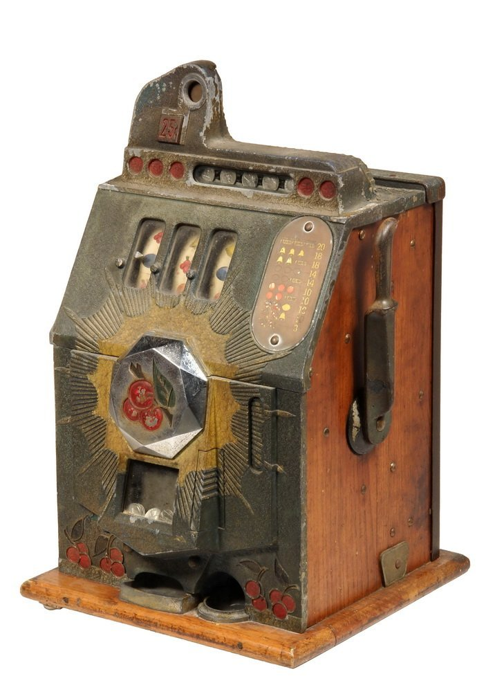 "SLOT MACHINE - Coin Operated ""Bursting Cherry"" Tabletop"