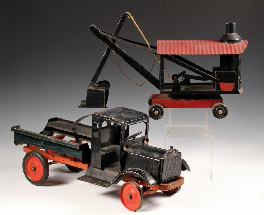 (2) METAL TOYS - Keystone, in black and red painted