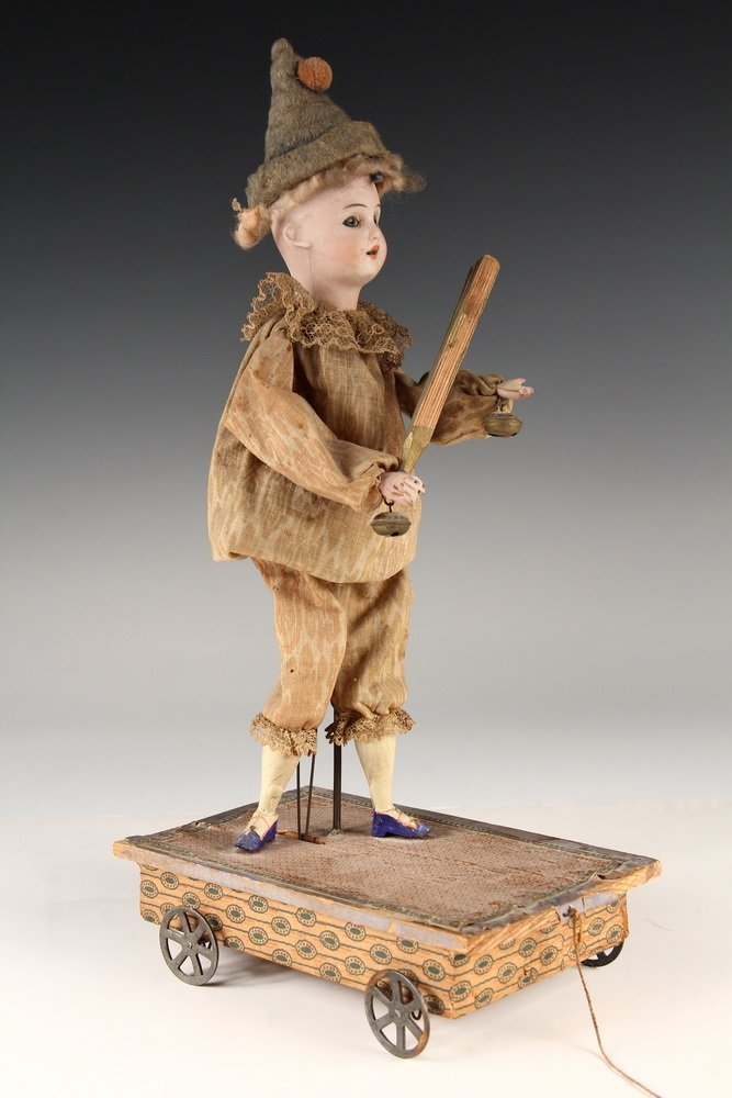 RARE AUTOMATON PULL TOY - Schoneau & Hoffmeister German