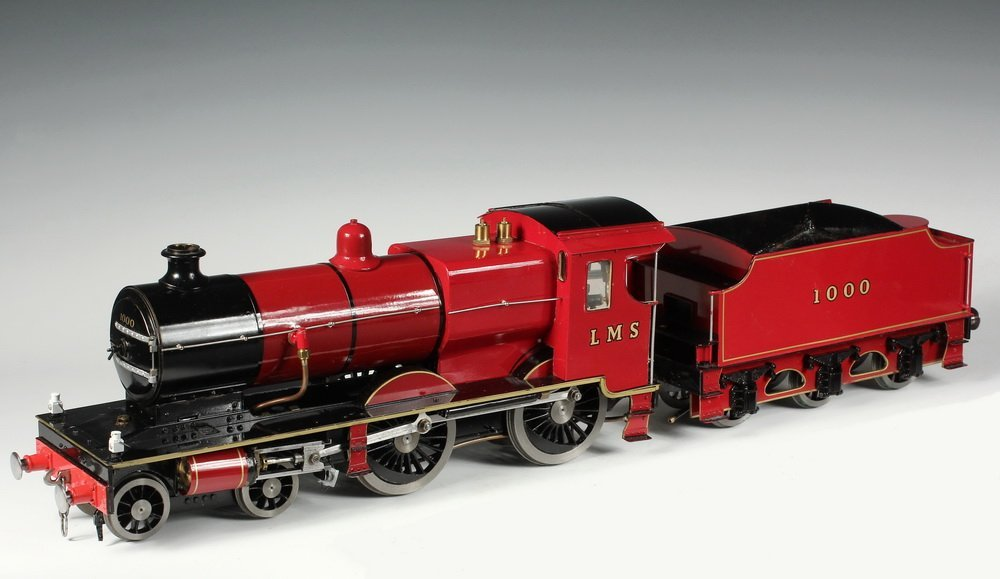 BOXED LOCOMOTIVE AND TENDER - A well engineered 2 1/2""