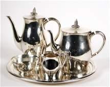 TEA & COFFEE SERVICE - (5) Piece Sterling Silver Tea &