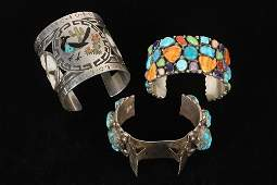 BRACELETS - Group of (3) Native American Crafted