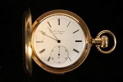 GENTS POCKETWATCH  Rare 18K Gold Case 5 Minute